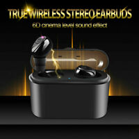 2019 TWS Bluetooth 5.0 Earbuds Headphones Wireless Noise Cancelling Headset