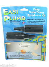 Drain Down Avoidance Kit Pack of 2 Plastic Easi Plumb DDA