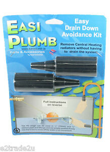Drain Down Avoidance Kit Pack of 2 Plastic Easi Plumb DDA