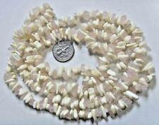 36 inch vintage mother pearl rose quartz bead friendship love necklace 49812