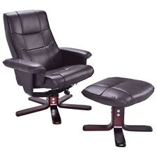 Executive Pu Leather Seat Chair Leisure Recliner Furniture W/ Ottoman
