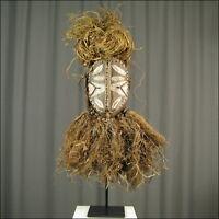51952) Afrikanische Kwele Holz Maske Gabun Afrika KUNST
