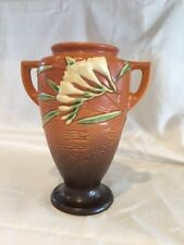 """New listing Roseville Fresia 121-8, 8.5"""" Vase, vintage, perfect condition"""