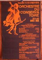 Affiche de 1975 ✤ Orchestre du Conservatoire ✤ AMCC Chambéry ✤ 35 x 50