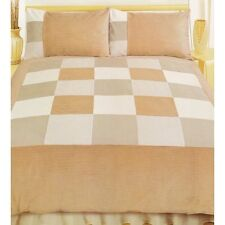 Letto Matrimoniale Set Copripiumino Cord Brown Color Crema Beige Cream Biancheria da letto in velluto a coste