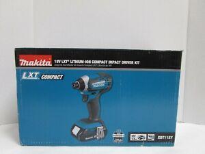 Makita XDT11SY 18V LXT Lithium Ion Impact Driver Kit NEW OPENED BOX SEE PHOTOS