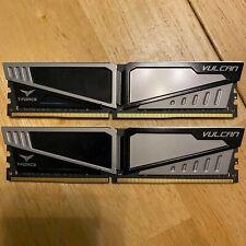 Team Vulcan 32GB dual channel 288-Pin DDR4 2400 PC4 19200 CL 15 memory SDRAM RAM