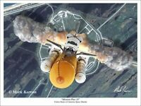 """Mission Plus 10"" Mark Karvon Giclee Print - Space Shuttle Atlantis"