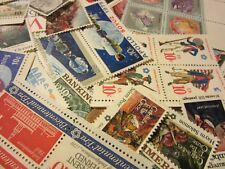 VINTAGE OLD US Postage Stamp Lot, ALL DIFFERENT MNH 10 CENT COMMEMORATIVE UNUSED