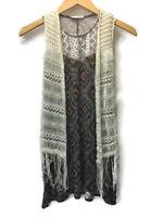 Tilly's Girls Full Tilt Knit Jersey Dress Crochet Cardigan Overlay Size Medium 8