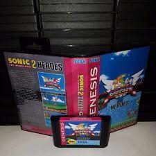 Sonice the hedgehog 2 Heros Game for Sega Genesis! Cart & Box