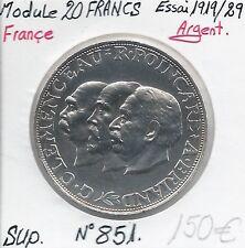 20 FRANCS - CLEMENCEAU POINCARE BRIAND - ESSAI AU MODULE 1919/29 - Qualité: SUP