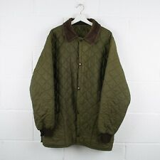 Vintage BARBOUR Green Quilted Jacket Size Mens Large /R41043