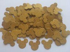100 mariage Mickey Mouse Gold Glitter têtes oreilles table de fête paillette Confetti