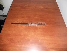 Carvell Hall Letter Opener Stainless Steel Textured Handle 8 1/2""