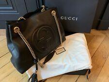 Sac Gucci cuir noir authentique en excellent état (boîte et dustbag d'origine)