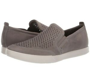 Ecco Collin 2.0 Perforated Loafers Shoes Moc Warm Grey EU 43 Mens 9 - 9.5 US