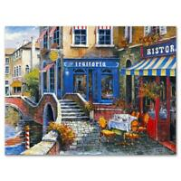 "Anatoly Metlan ""Outdoor Cafe"" Signed Limited Edition Lithograph on Paper"