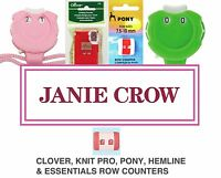 Knitting Row Counter/Register Clover, Pony, Knit Pro