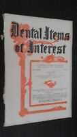 Revista Dental Items de Interes N º 6 June 1927 ABE