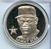 Sammy Sosa MLB Baseball 999 Silver 1 oz Medal ounce Round Texas - RY034