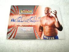 Tna Wrestling autógrafo tarjeta señor Anderson A6 2010