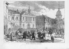 1870 FRANCO GERMAN WAR: HOTEL DE VILLE Vaucouleurs Soldiers Military (115b)