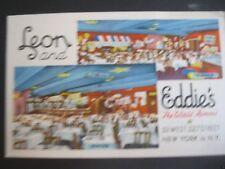 leon and eddies restaurant 33 west 52nd street new york city postcard 1940s 50s
