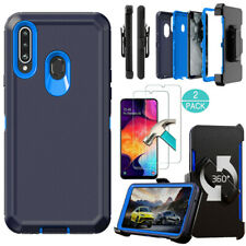 For Samsung Galaxy A20S Case Hard Cover Holster Belt Clip Stand Screen Protector