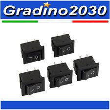 5 Pezzi - Interruttore on/off switch 250VAC 3A 2 Connettori pin