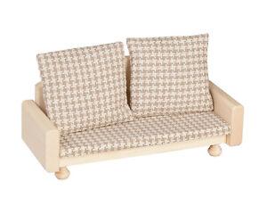 Sofa / Couch für Puppenhaus, Puppenstube Wohnzimmer 1:12, Rülke Rustikal 22281