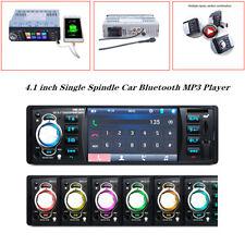 """4.1"""" Single Spindle Car Bluetooth MP3 Player USB FM Radio MP5 Card Machine 12V"""
