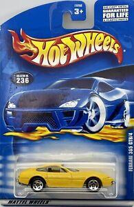 2000 Hot Wheels Yellow Ferrari 365 GTB/4 Collector Card # 236