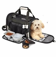 Dog Carrier Travel Puppy Tote Airline Approved Pet Carriers Dog/ Cat Soft Sided