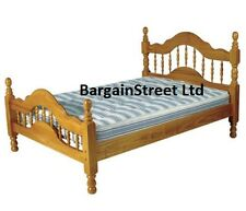 NEW CUBAN SOLID PINE WOODEN 4'6ft DOUBLE BED FRAME