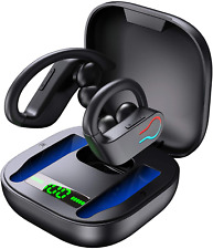 New listing Donerton Wireless Earbuds, Bluetooth 5.1 Sport Headphones with Charging Case, 10