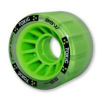 Mota Skates - Green Toxic Hybrid Grip 88a / roll 93a derby wheels ( set of 4 )