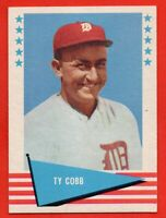 1961 Fleer #14 Ty Cobb NEAR MINT+ Detroit Tigers Hall of Fame FREE SHIPPING