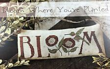 Bloom Where You're Planted With Thy Needle & Thread Cross Stitch Pattern