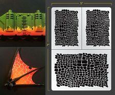 Reptile Skin Airbrush Stencil Organik Schablonen Maskierung Gestaltung Organisch