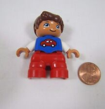 """LEGO DUPLO BOY INFANT TODDLER in Car Shirt 1.75"""" FIGURE for FAMILY HOME HOUSE"""