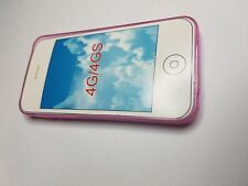 Cover Custodia Case Silicone Trasparente TPU Gel Apple Iphone 4/4S Rosa
