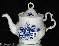 CONNOISSEUR Royal Albert TEA POT England Cobalt Blue Floral Rose Scarce Vintage