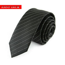 Factory 5cm Classic Men Skinny Ties Black Solid Striped Dot Narrow Neck Tie