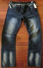BUFFALO Jeans Straight Leg jeans Mens Size 31 X 32 Vintage Distressed Dark Wash