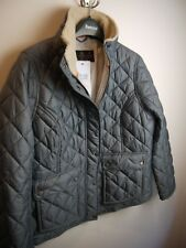 Barbour Ladies Cushat Quilted Jacket, New With Tags, Washed Charcoal ,Size 6 US