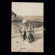 Africa Woman's Wee in the Desert/Pee pee in the desert * Vint 10s Ethnic Nude RPPC