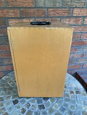 """Vintage Wood Microscope Case Carry Box Handle Made in Japan 15"""" x 9-3/4"""" x 7-3/4"""