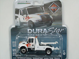 International Durastar 4400 Tow Truck Blanc, Greenlight 1:64 Édition Limitée