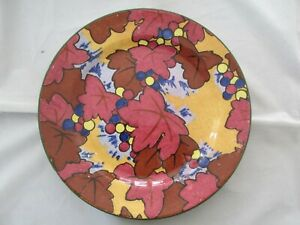 Vintage Royal Doulton Art Deco Plate Leaves and Berries Strong Colours